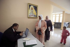 MOROCCO: Women migrant workers apply for jobs
