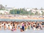 El Jadida : Les plages prises d'assaut par les estivants venus des villes fermées