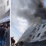 El Jadida : Grave incendie au restaurant Lbahri en face de la Place Breija