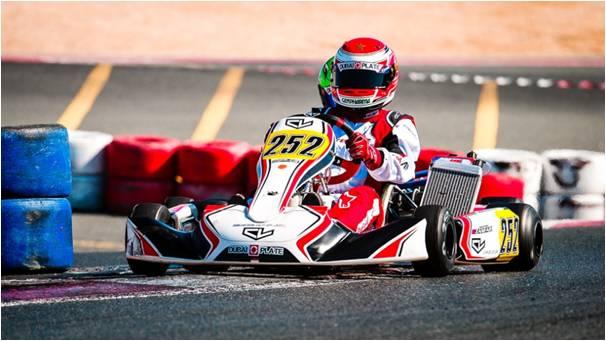 El Jadida : Le jeune jdidi Soulaimane Zenfari( 15 ans) remporte sa première victoire en karting lors de la compétition du Dubaï O-Plate